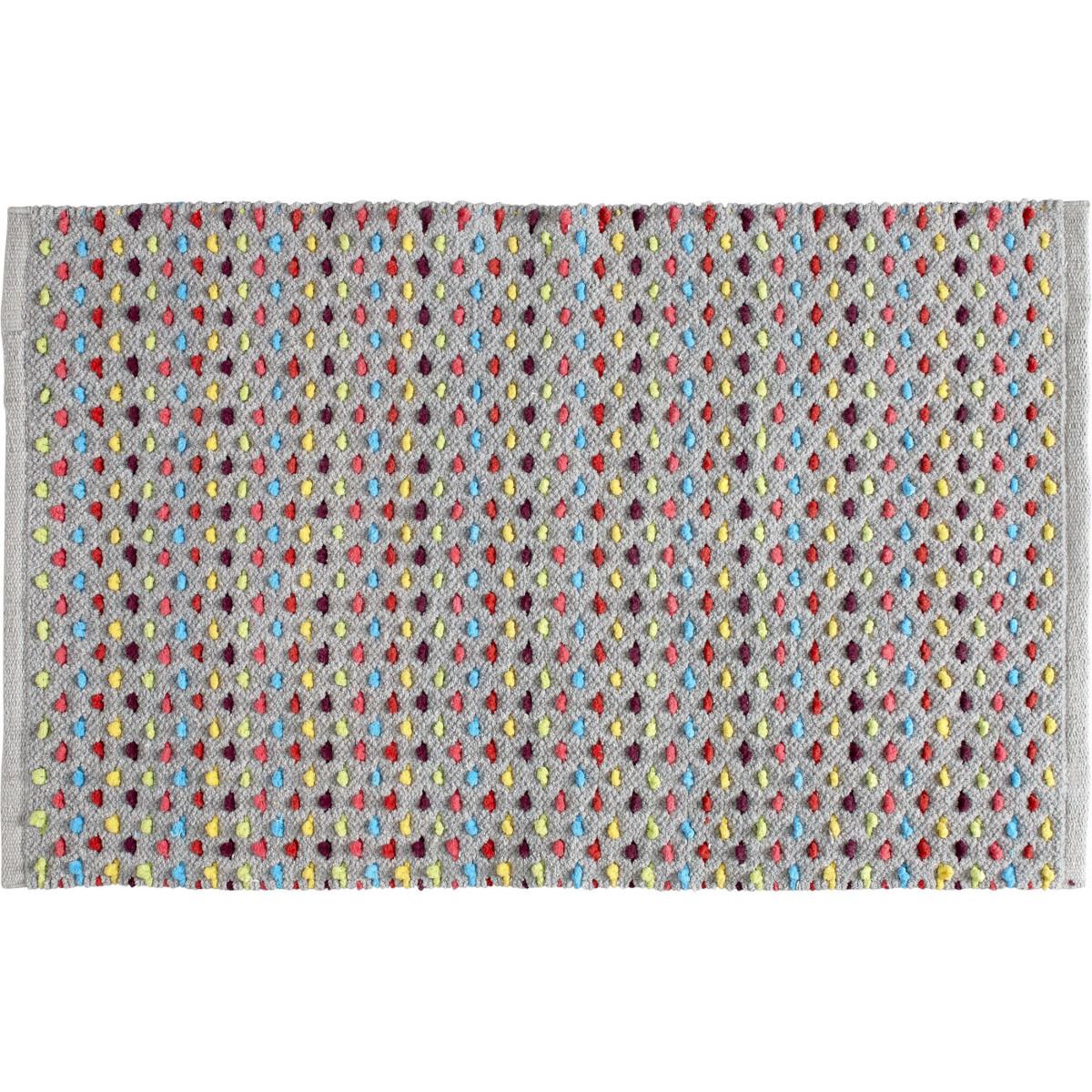 Tapis de bain fantaisie 50x80cm Confetti Multicouleur