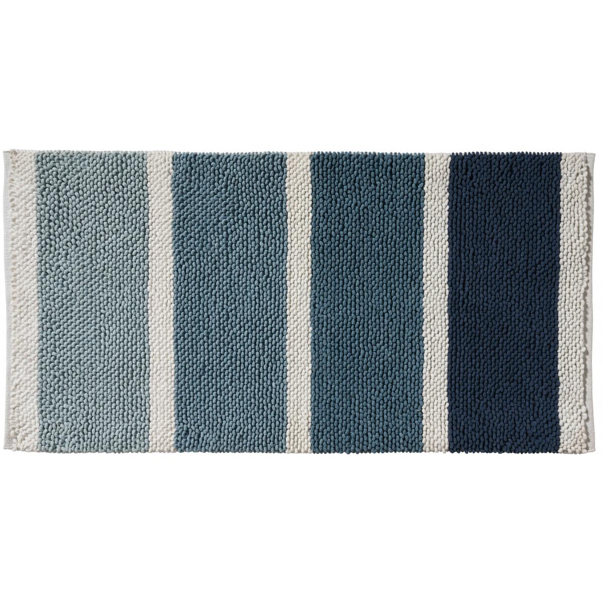 Tapis de bain fantaisie 60x120cm Bleu Mykonos