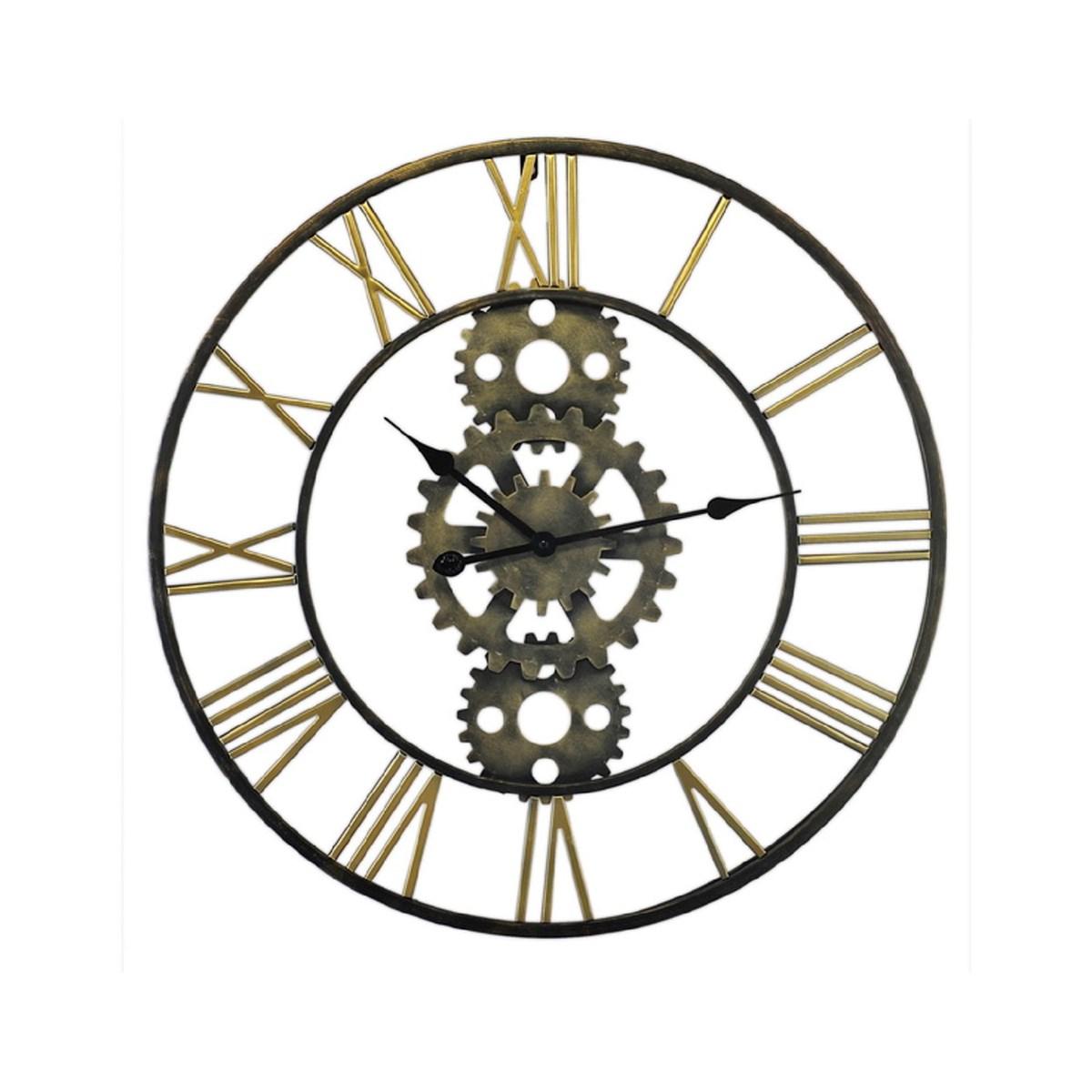 Horloge métal mécanisme noir D71