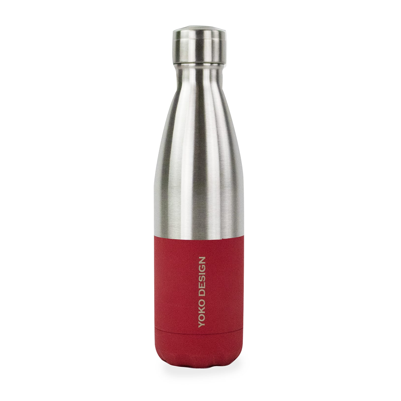 Bouteille duo 500 ml rouge soft & inox