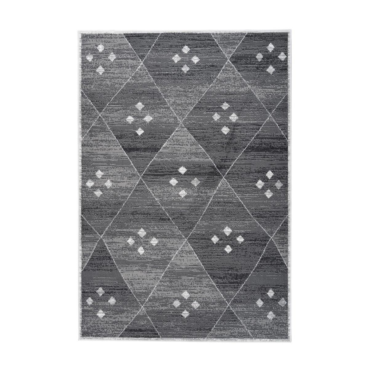 Tapis de salon en Polypropylène Gris 160x230 cm