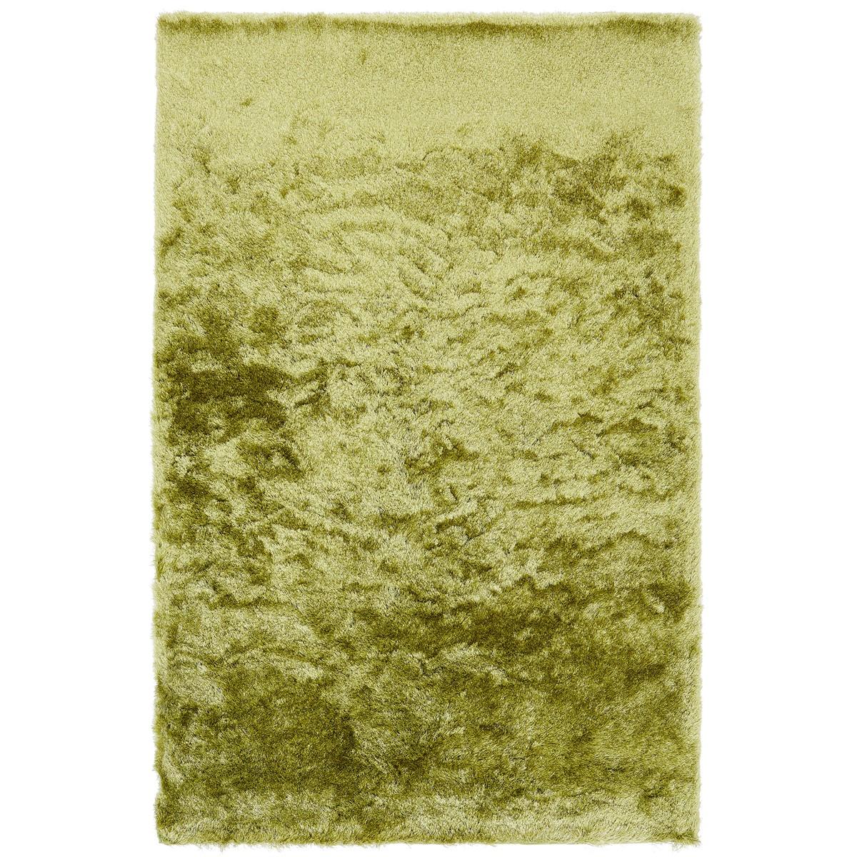 Tapis shaggy doux en Polyester Vert clair 140x200 cm