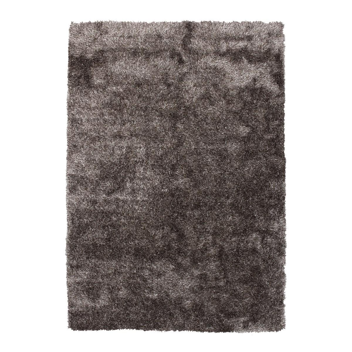 Tapis shaggy en Polyester Gris anthracite 120x120 cm