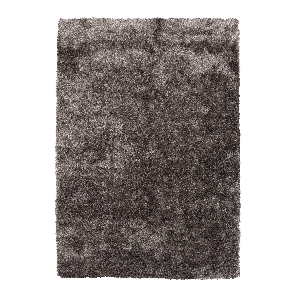 Tapis shaggy en Polyester Gris anthracite 160x160 cm