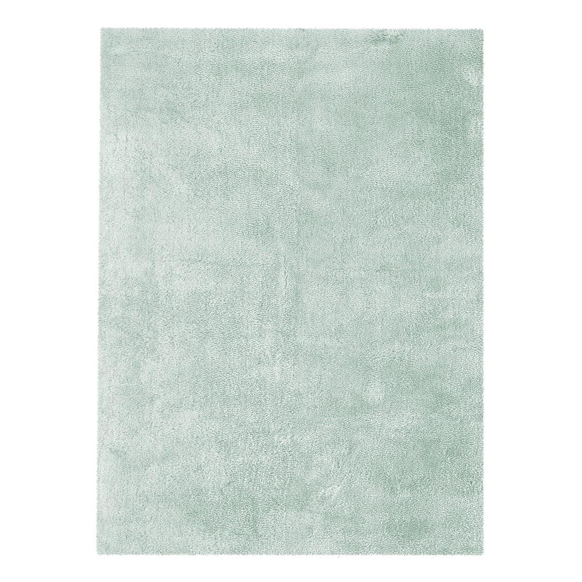 Tapis shaggy en Polyester Bleu ciel 160x230 cm