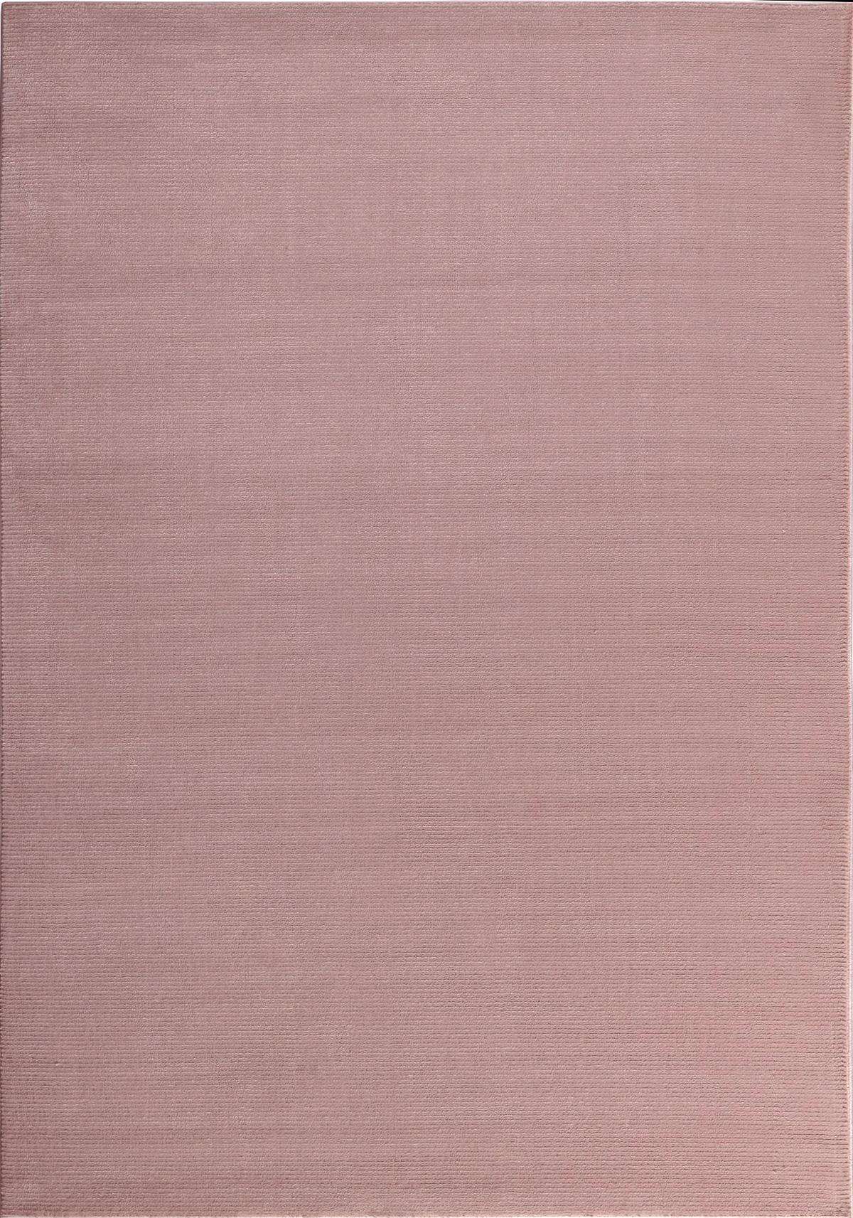 Tapis moderne uni doux rose 120x170