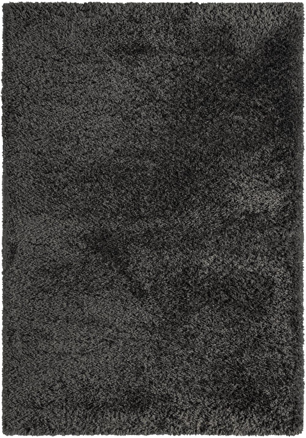 Tapis éco-responsable uni anthracite 120x160