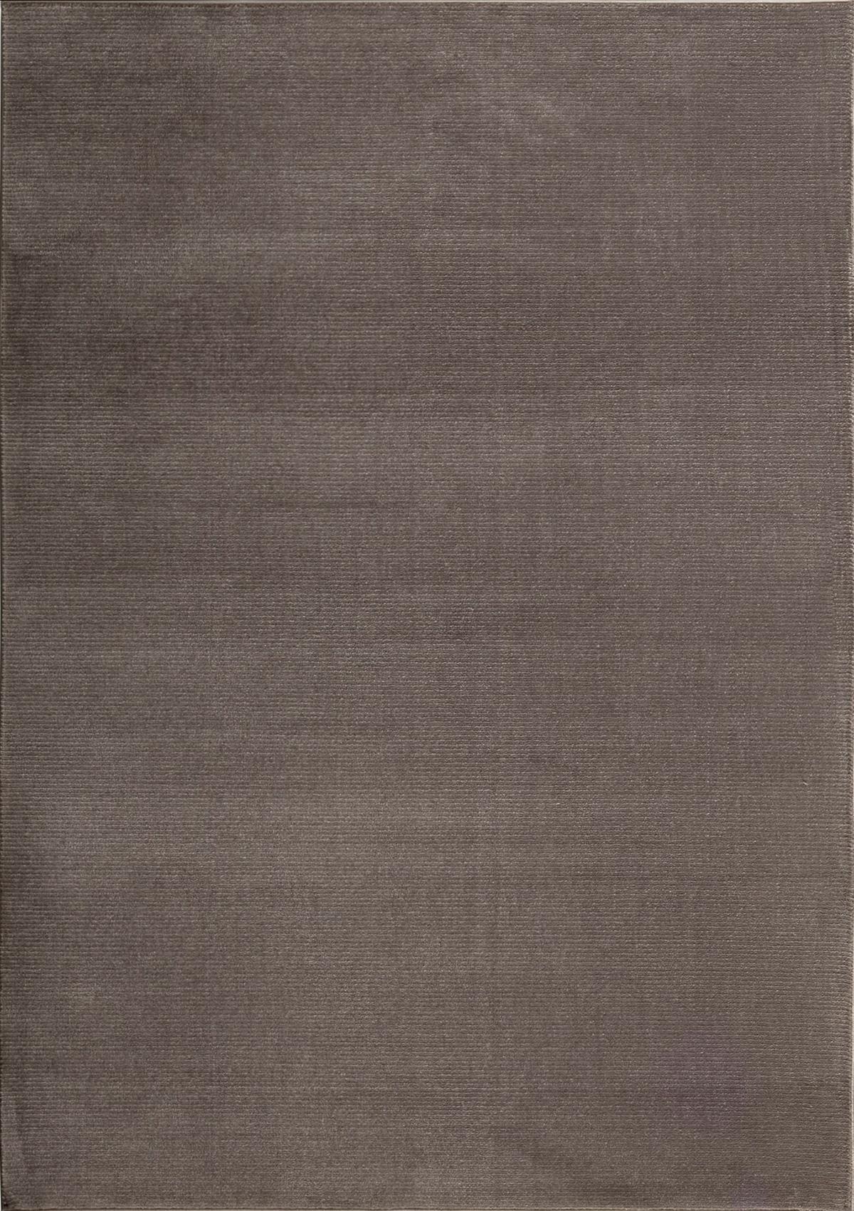 Tapis moderne uni doux taupe 120x170