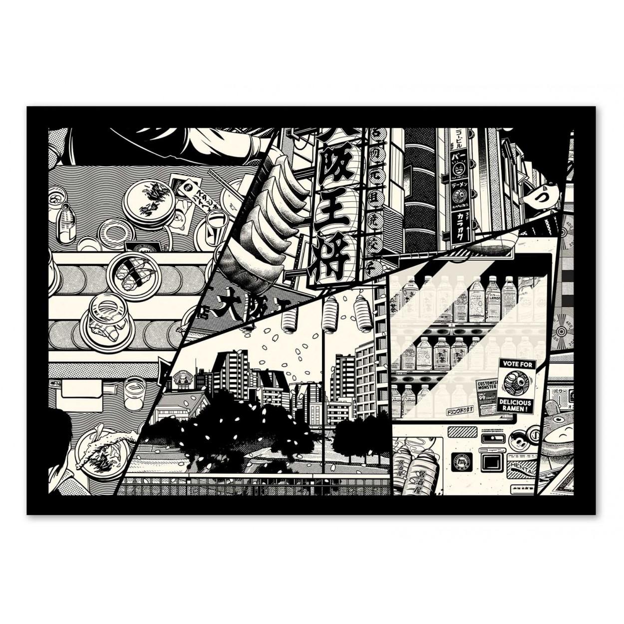 MANGA -  Affiche d'art 50 x 70 cm