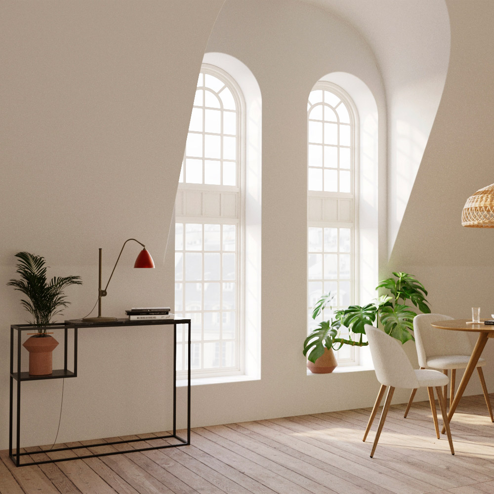 Console noire en marbre et pieds en métal
