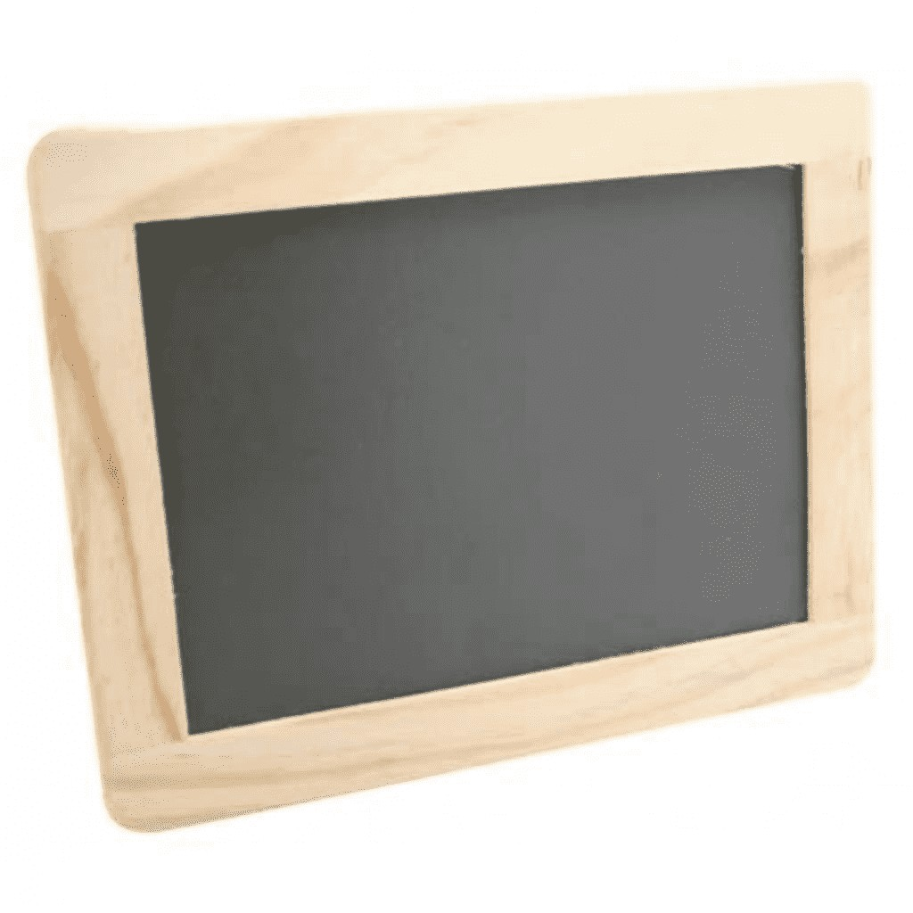 Ardoise bordure bois 21,5x17cm