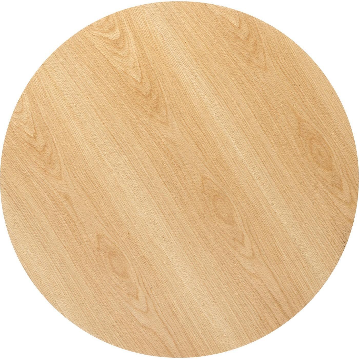 Table à manger 6 personnes ronde chêne et noir D120