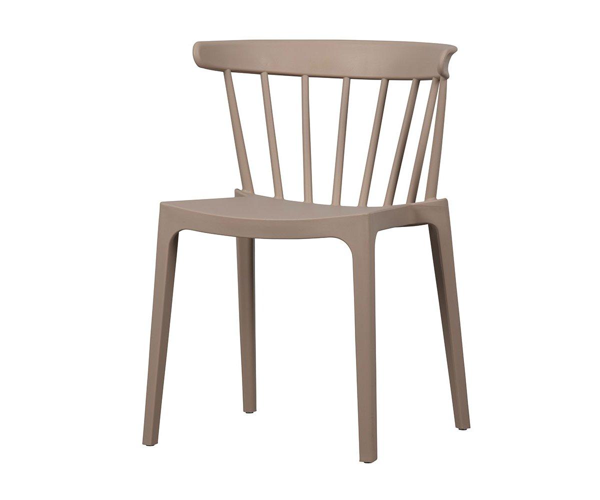 Chaise design exterieur rose