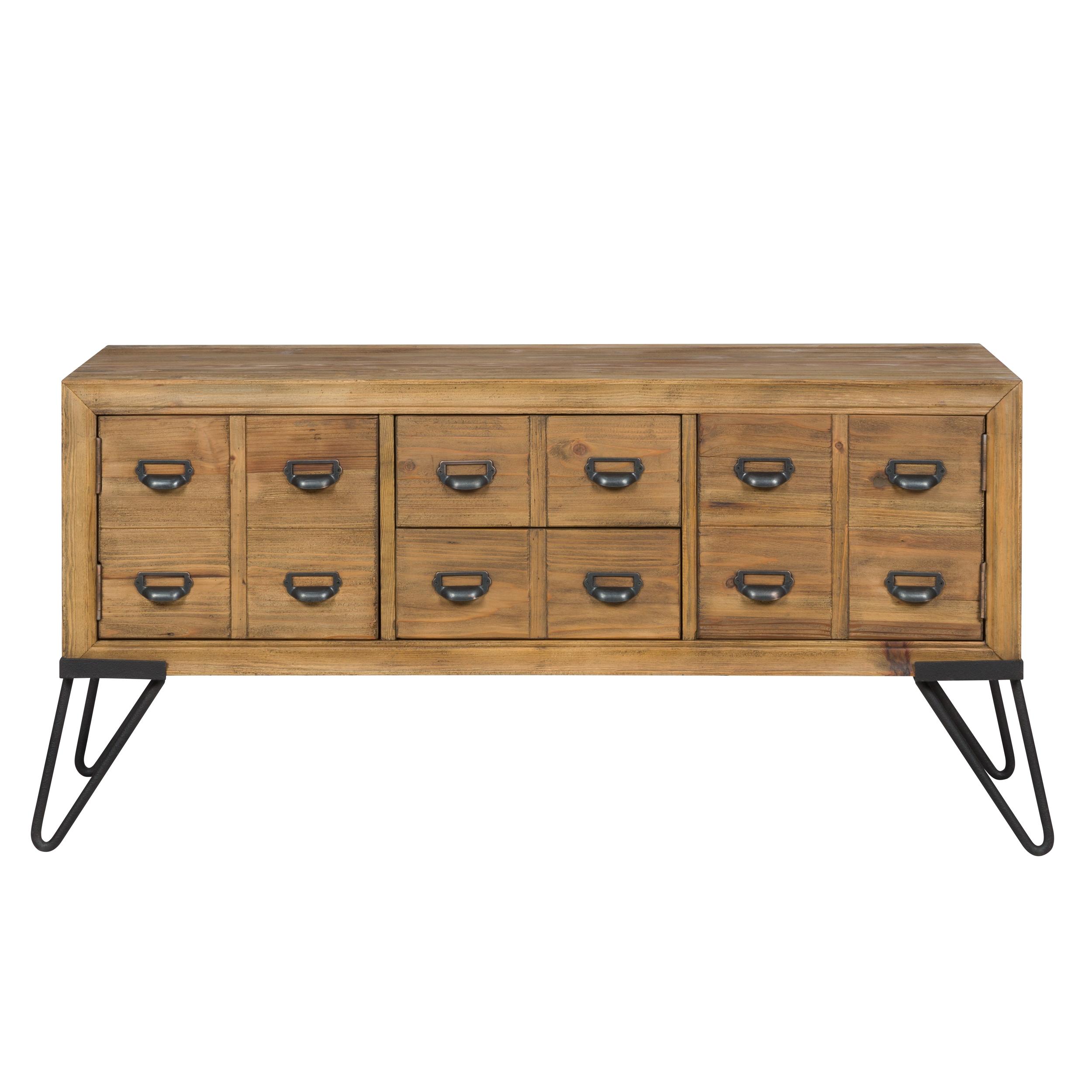 Buffet en bois recyclés 2 tiroirs et 2 portes