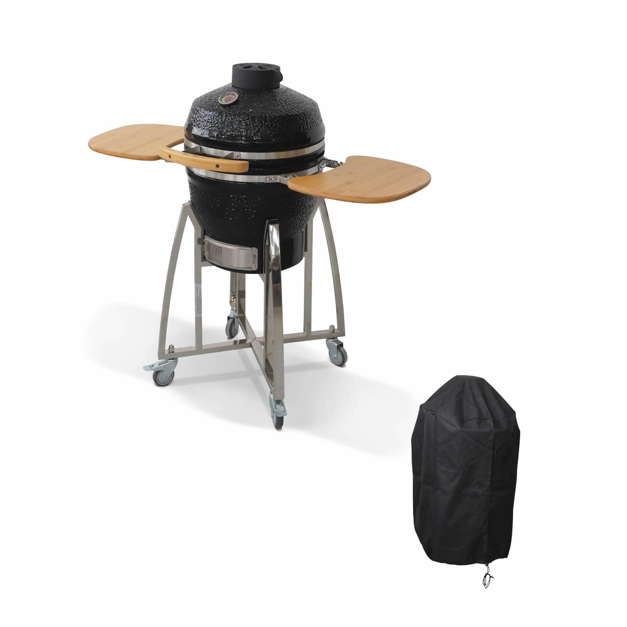 Barbecue charbon en céramique avec housse D45cm