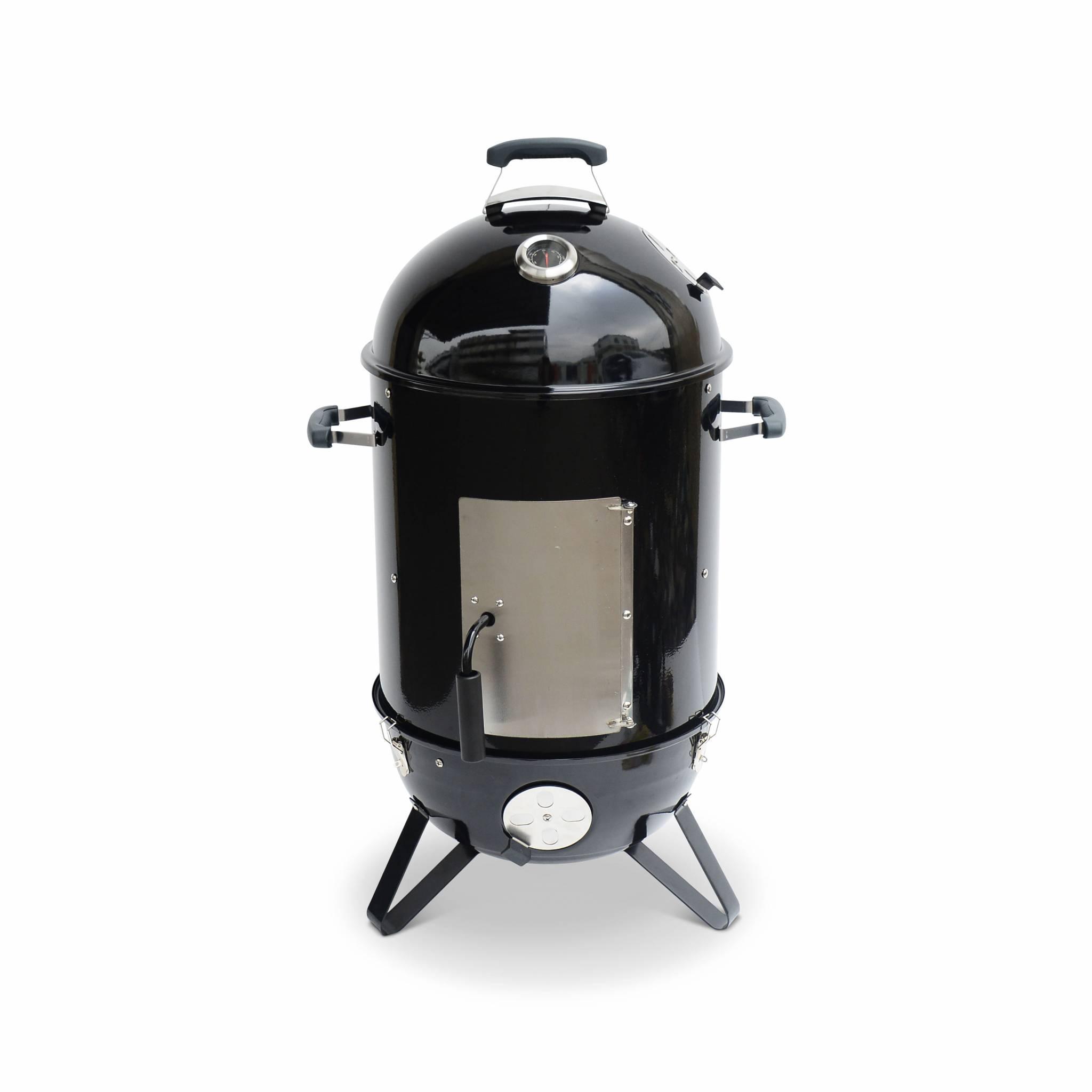 Barbecue fumoir au charbon – smoker premium avec aérateurs