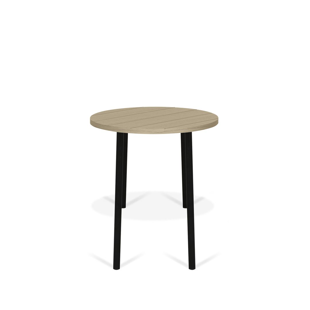Table Basse effet bois Chêne clair et Métal noir