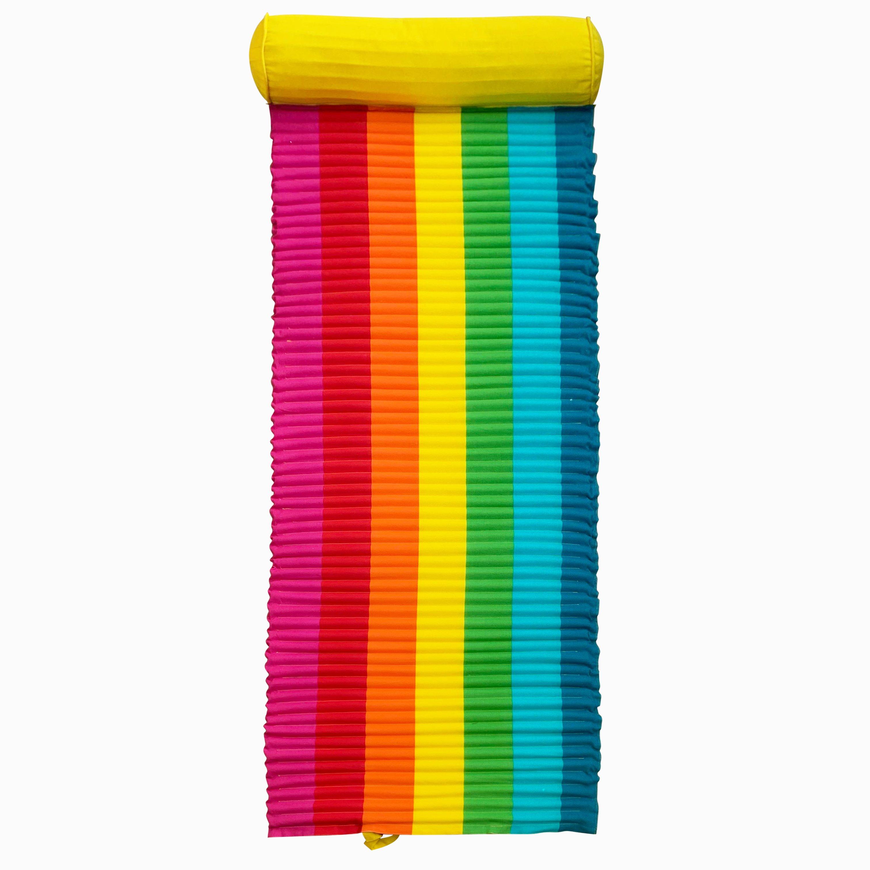 Matelas de plage pour bain de soleil Rainbow multicolore 60 x 180