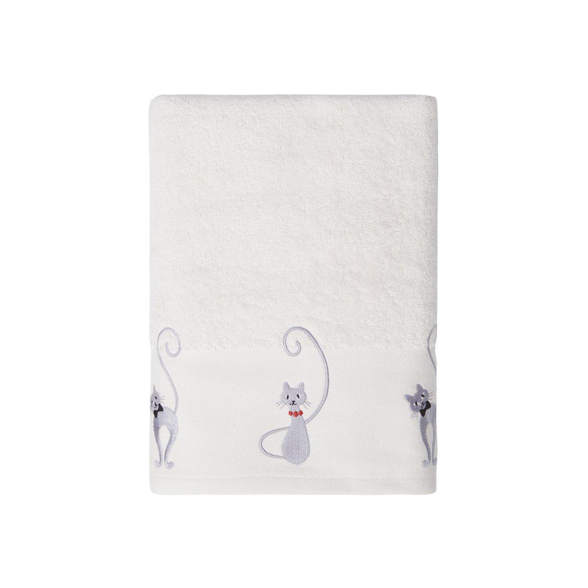 Drap de bain Blanc Casse 70x140 cm