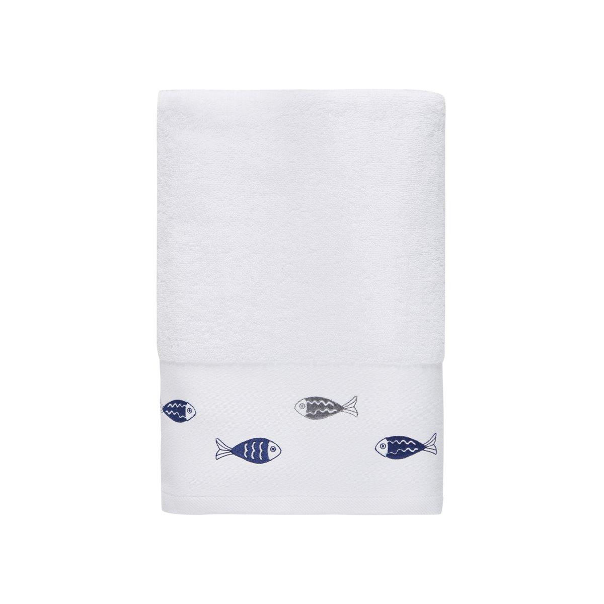 Drap de bain Blanc 70x140 cm