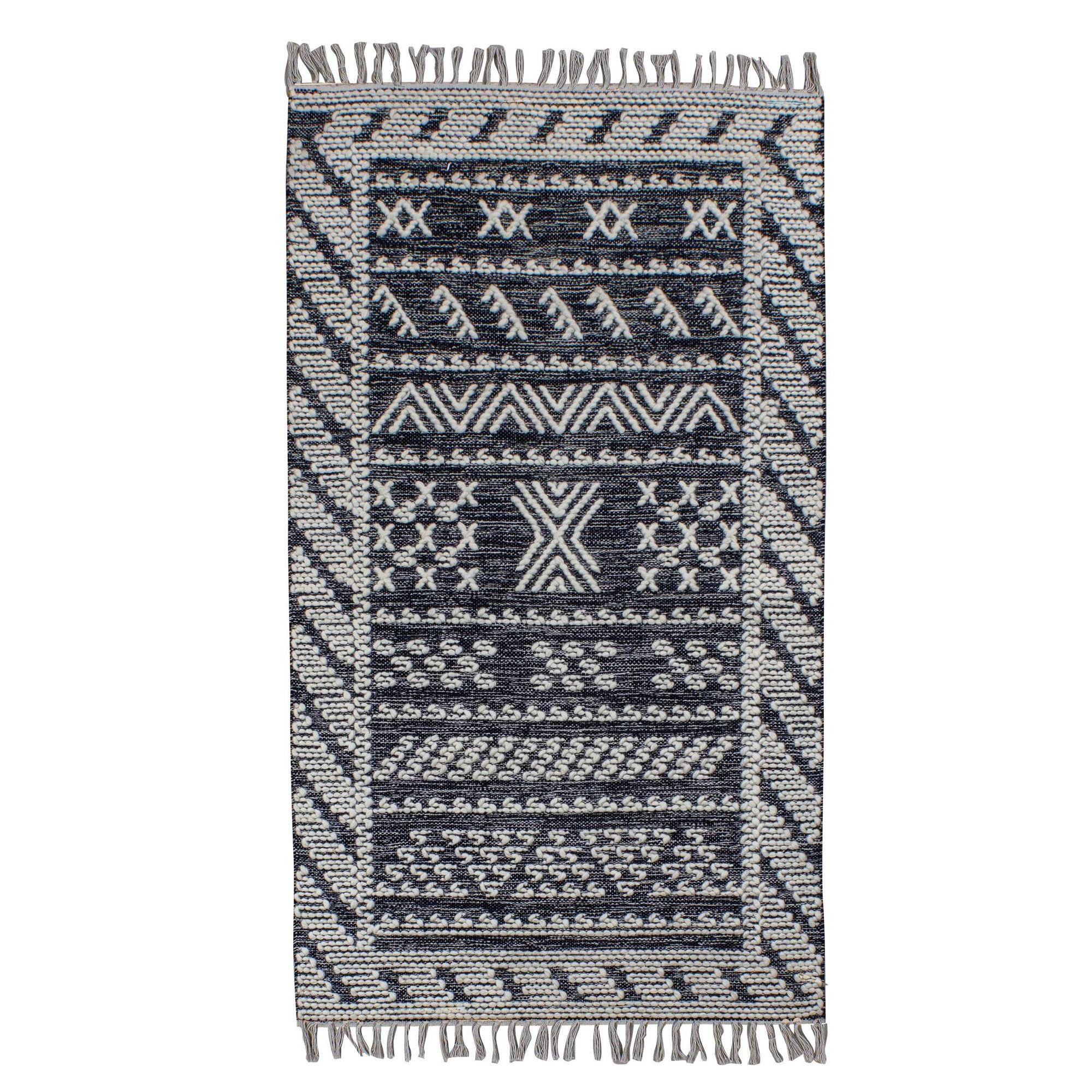 Tapis en laine et coton 90 x 150cm