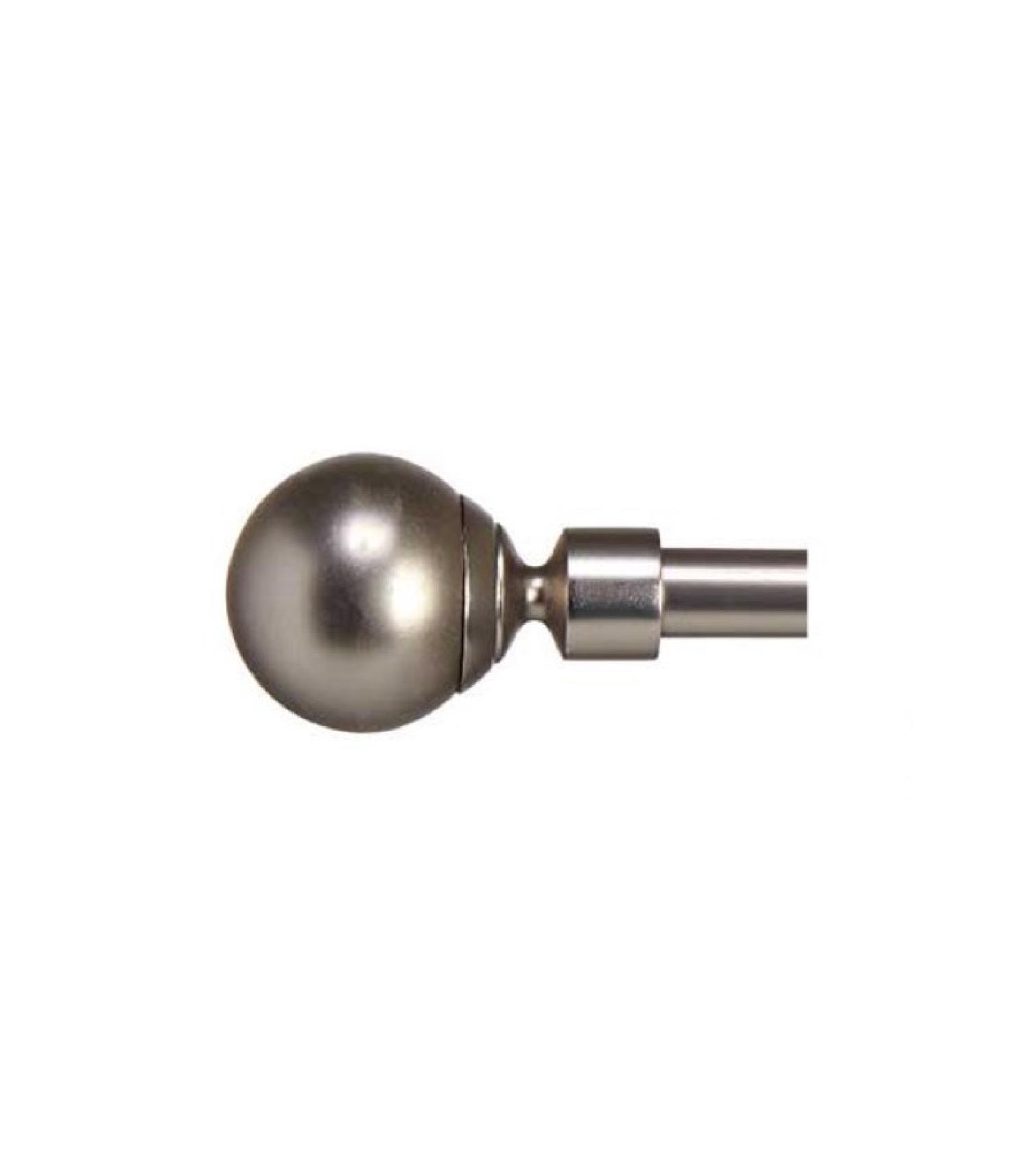 Tringle à rideaux extensible métal chromé boule 120 à 210cm