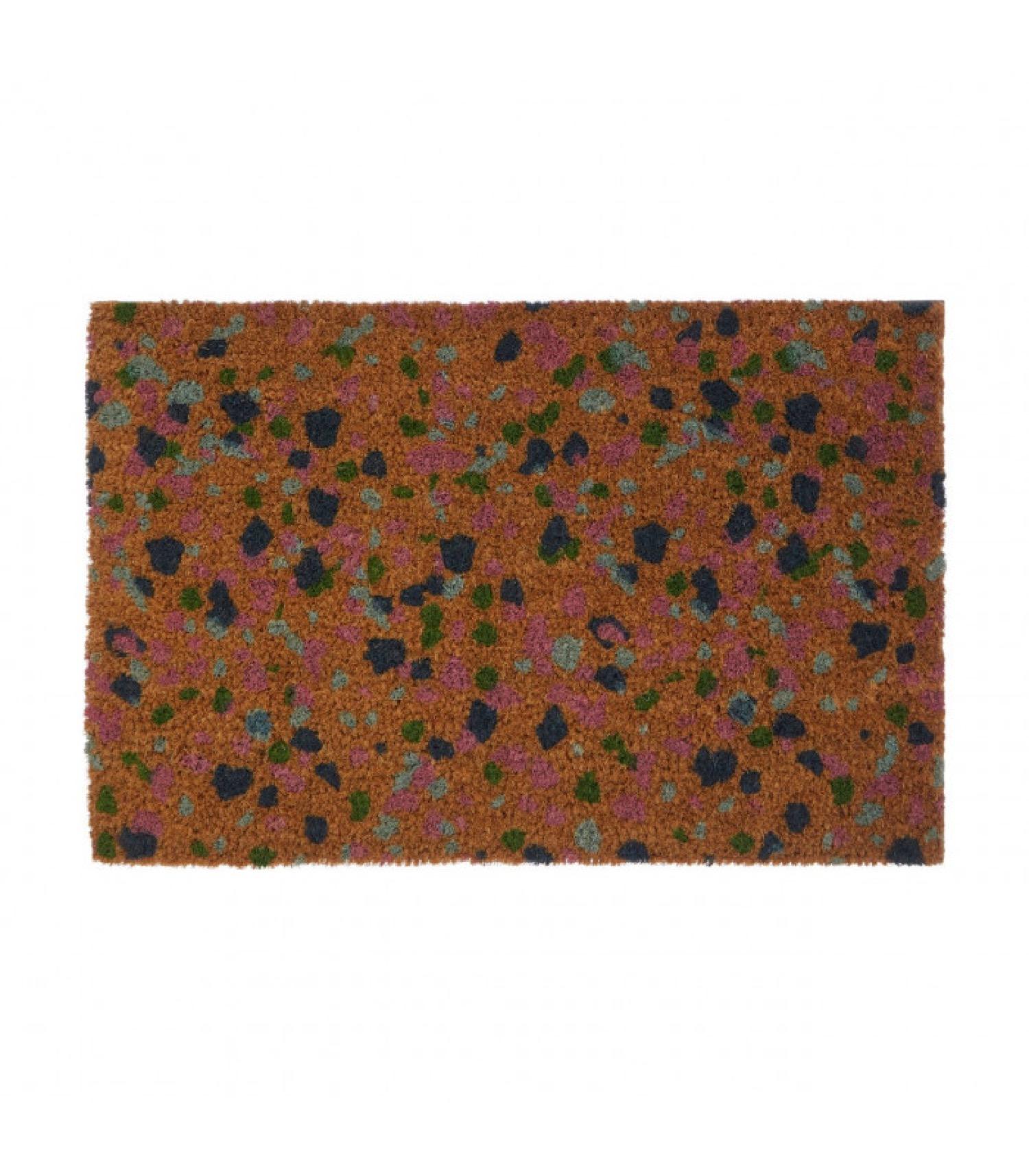 Paillasson coco multicolore terrazzo 60x40cm