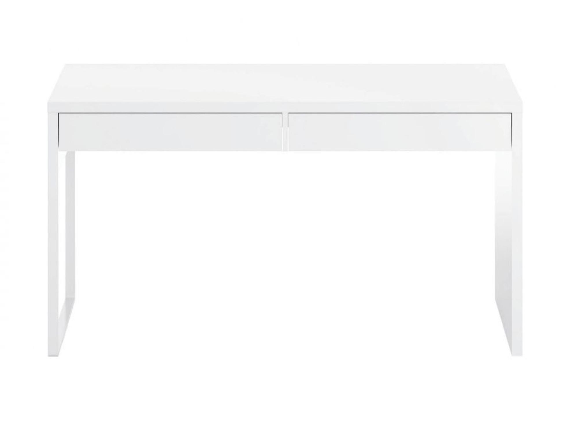 Bureau blanc réversible avec 2 tiroirs L138cmxP50cm