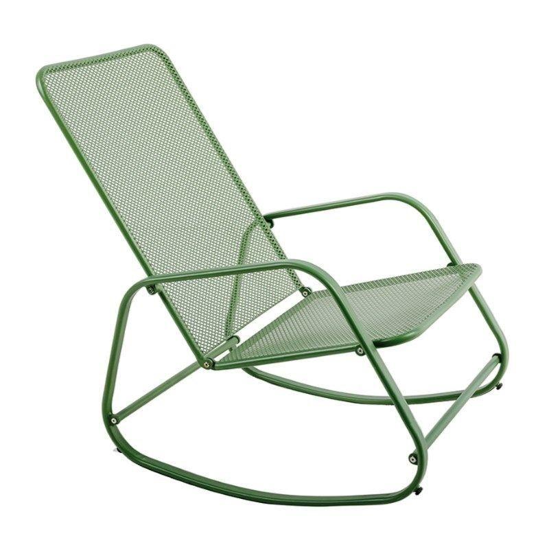 Rocking chair extérieur en acier Vert