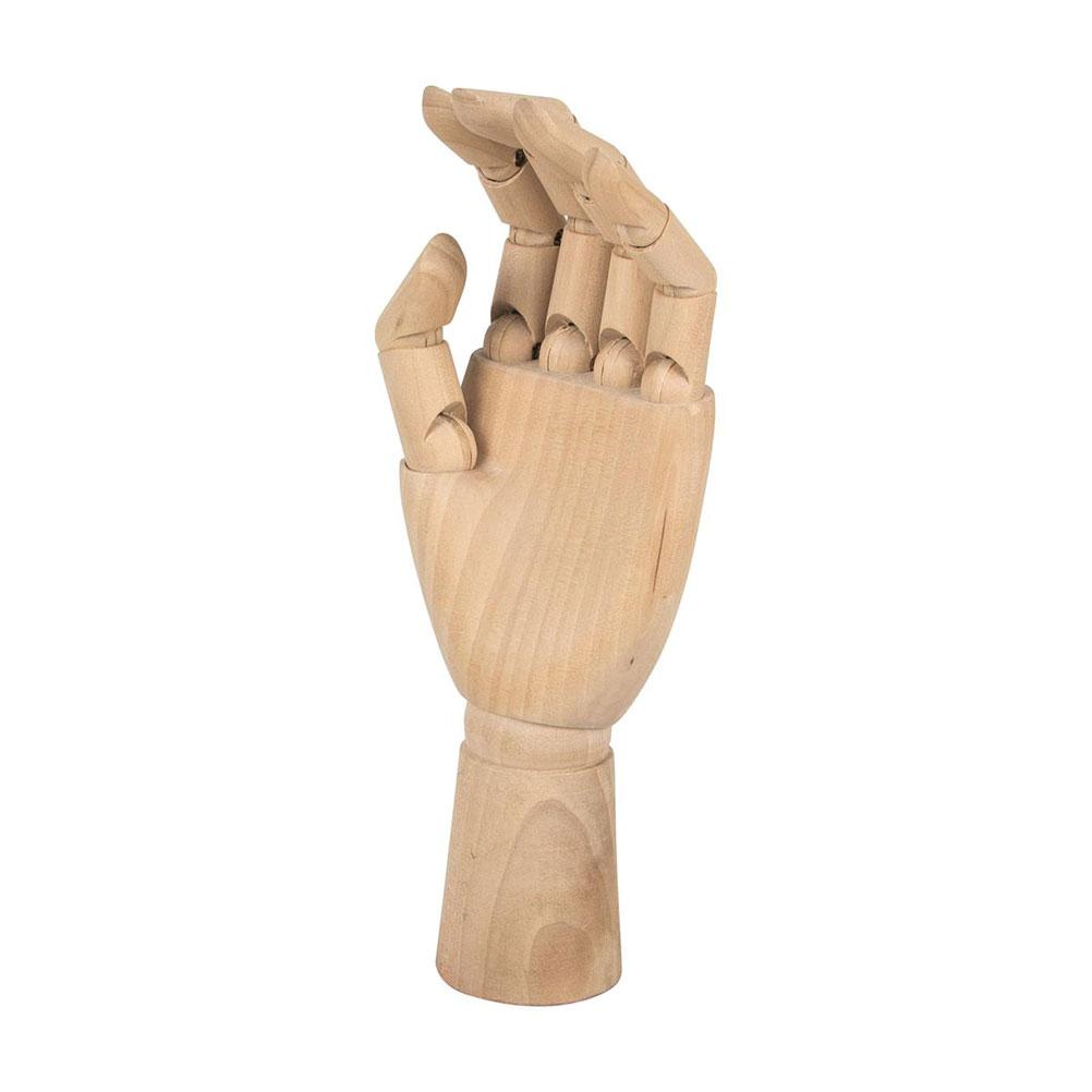 Support main en bois pour bijoux