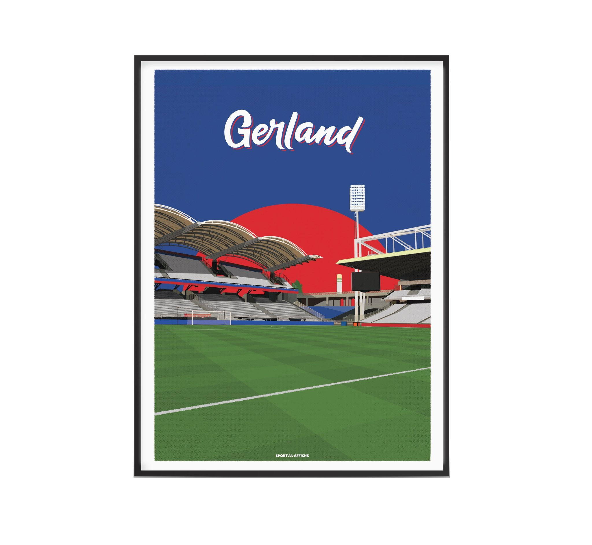 Affiche stade Gerland Lyon 40x60 cm