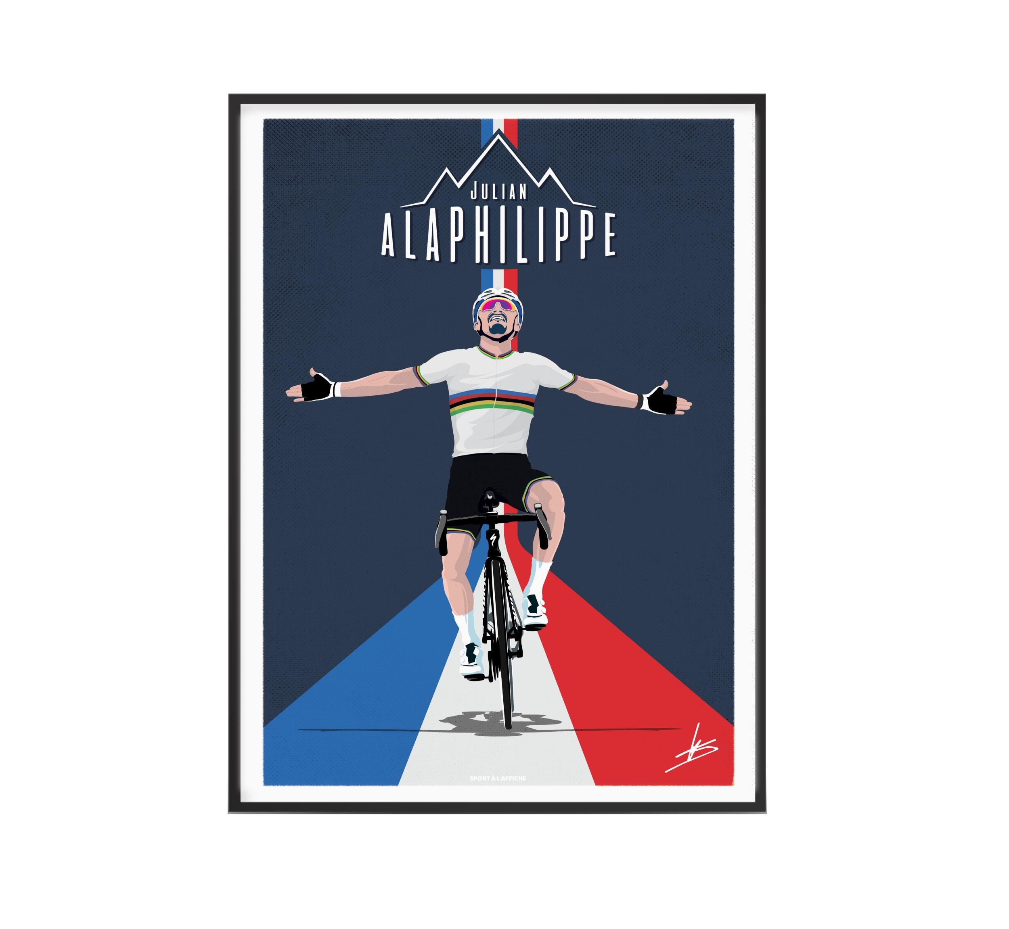 Affiche cyclisme Julian champion du Monde 30x40 cm