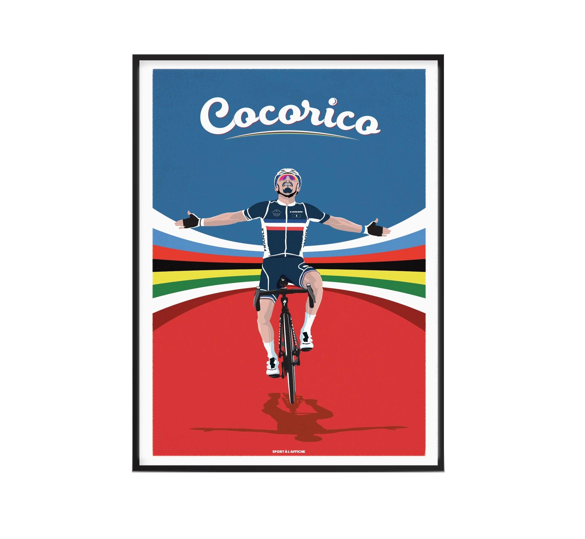 Affiche cyclisme Julian champion du monde 40x60 cm