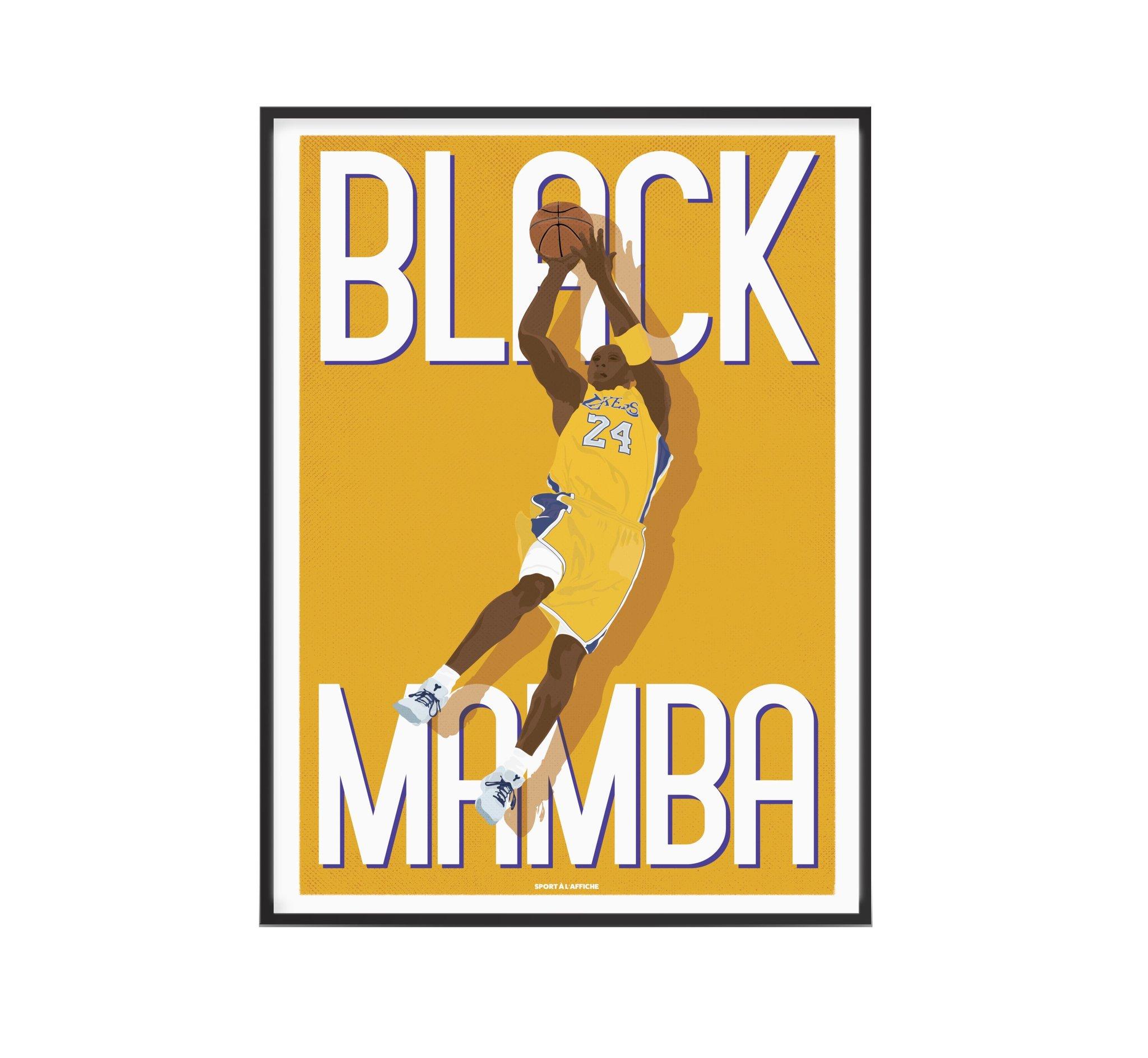 Affiche basket Kobe Black Mamba 30x40 cm