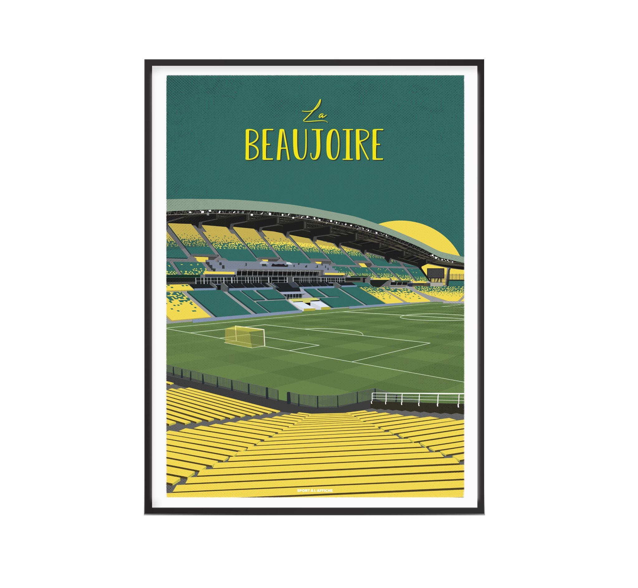 Affiche stade de la Beaujoire Nantes 40x60 cm