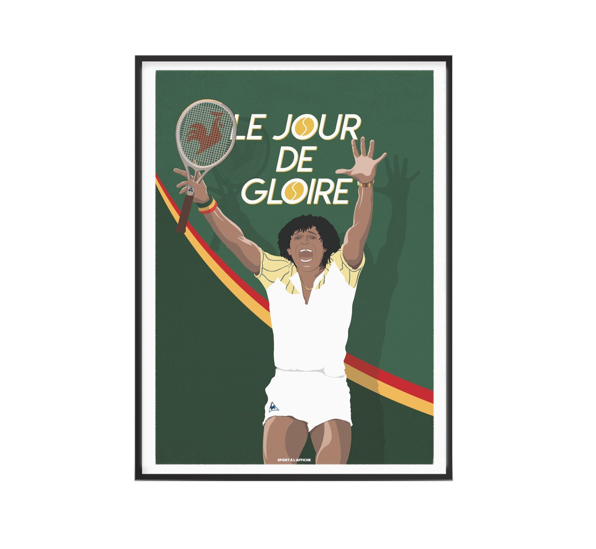 Affiche tennis Yannick le jour de gloire 30x40 cm