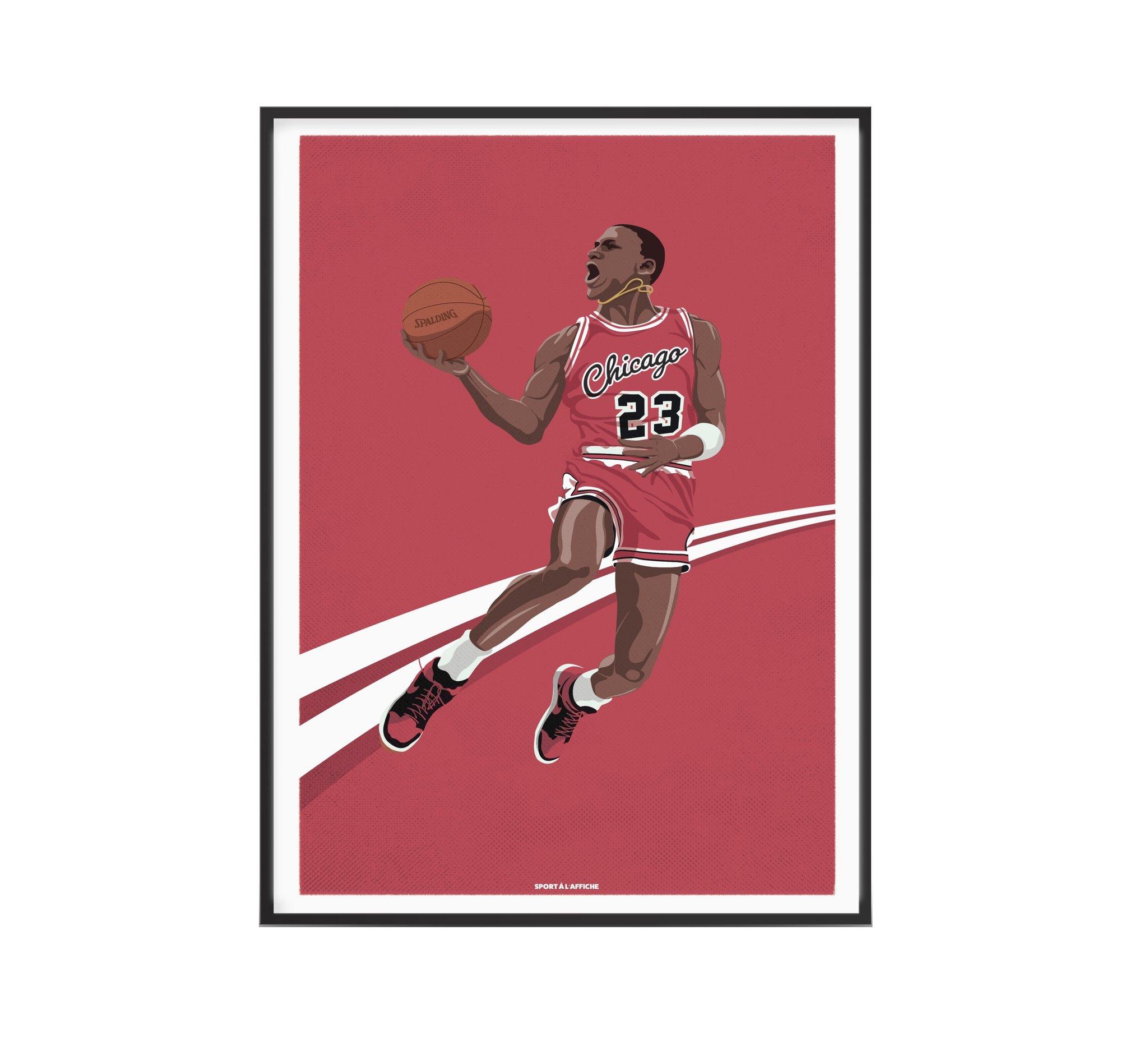 Affiche basket Michael His Airness 30x40 cm
