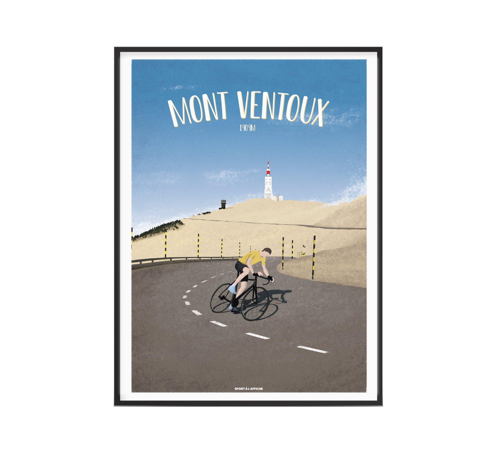 Affiche cyclisme Mont Ventoux 30x40 cm