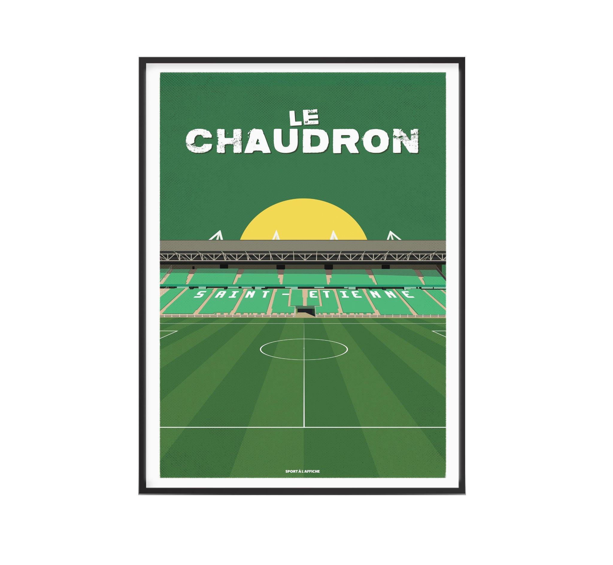 Affiche stade Geoffroy Guichard 30x40 cm