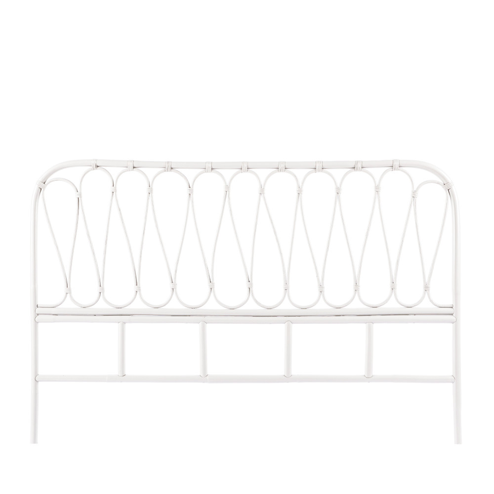 Tête de lit en rotin 168 cm blanc