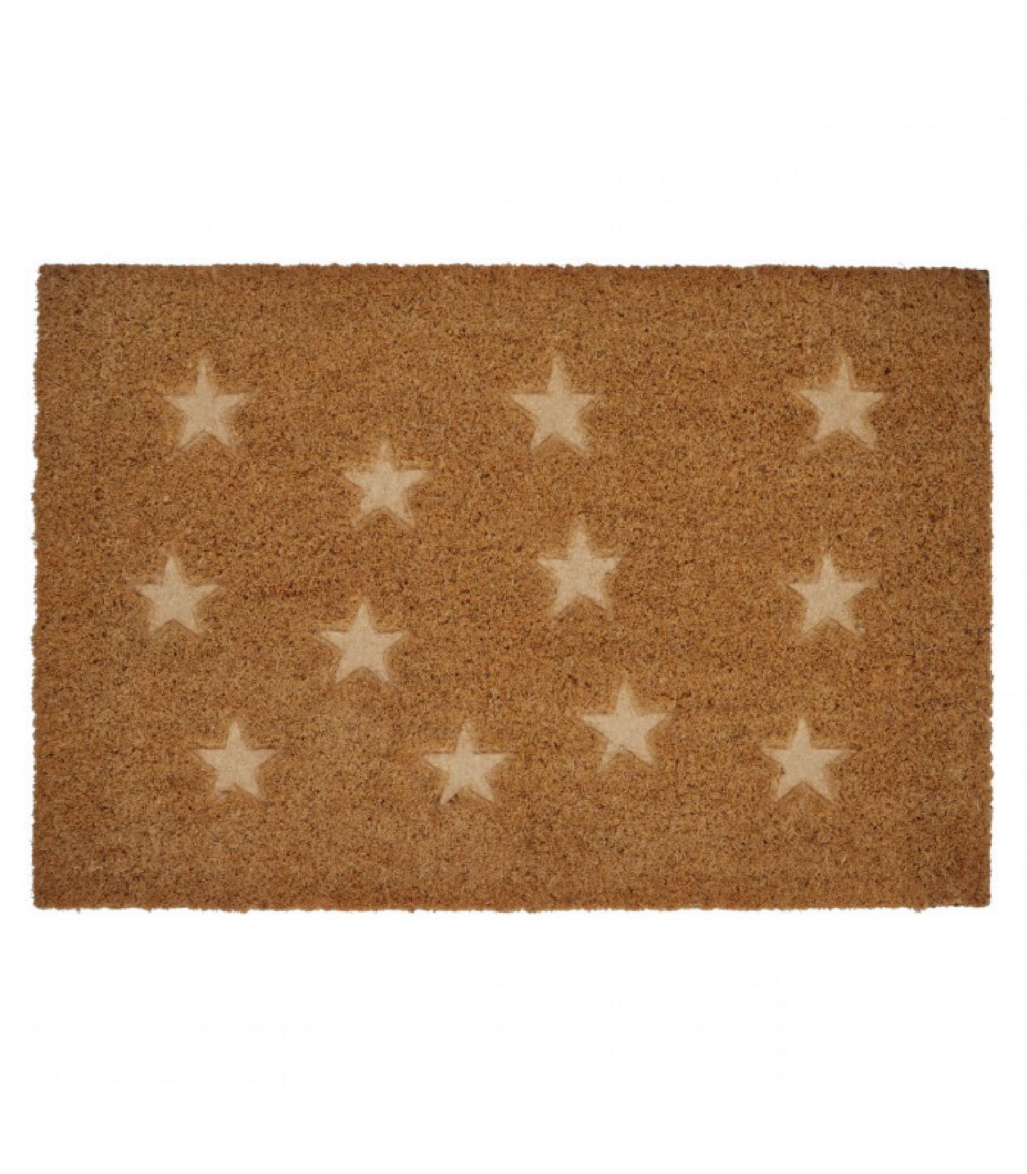 Paillasson coco étoiles embossées 60x40cm