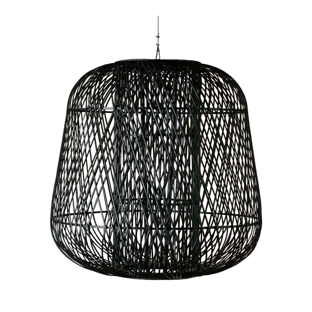 Suspension en bambou D100cm noir