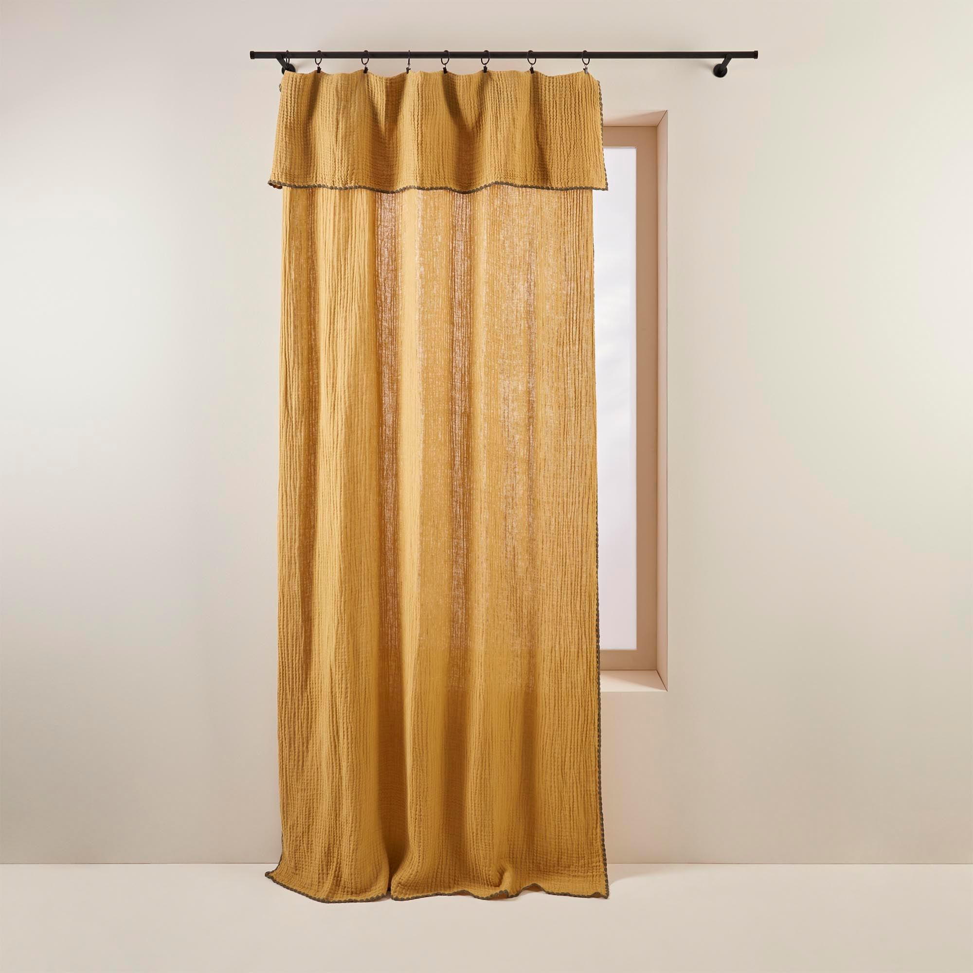 Panneau 250x280 cm Jaune pâle et kaki en Coton