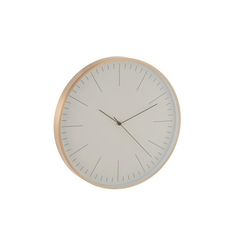 Horloge aluminium or H40cm