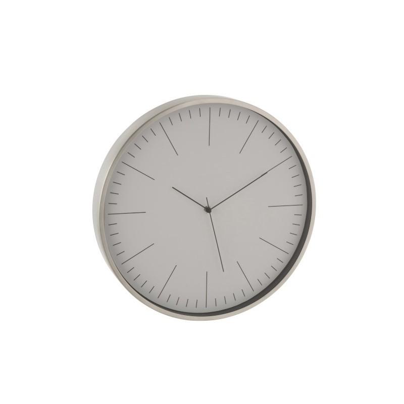 Horloge aluminium gris H40cm