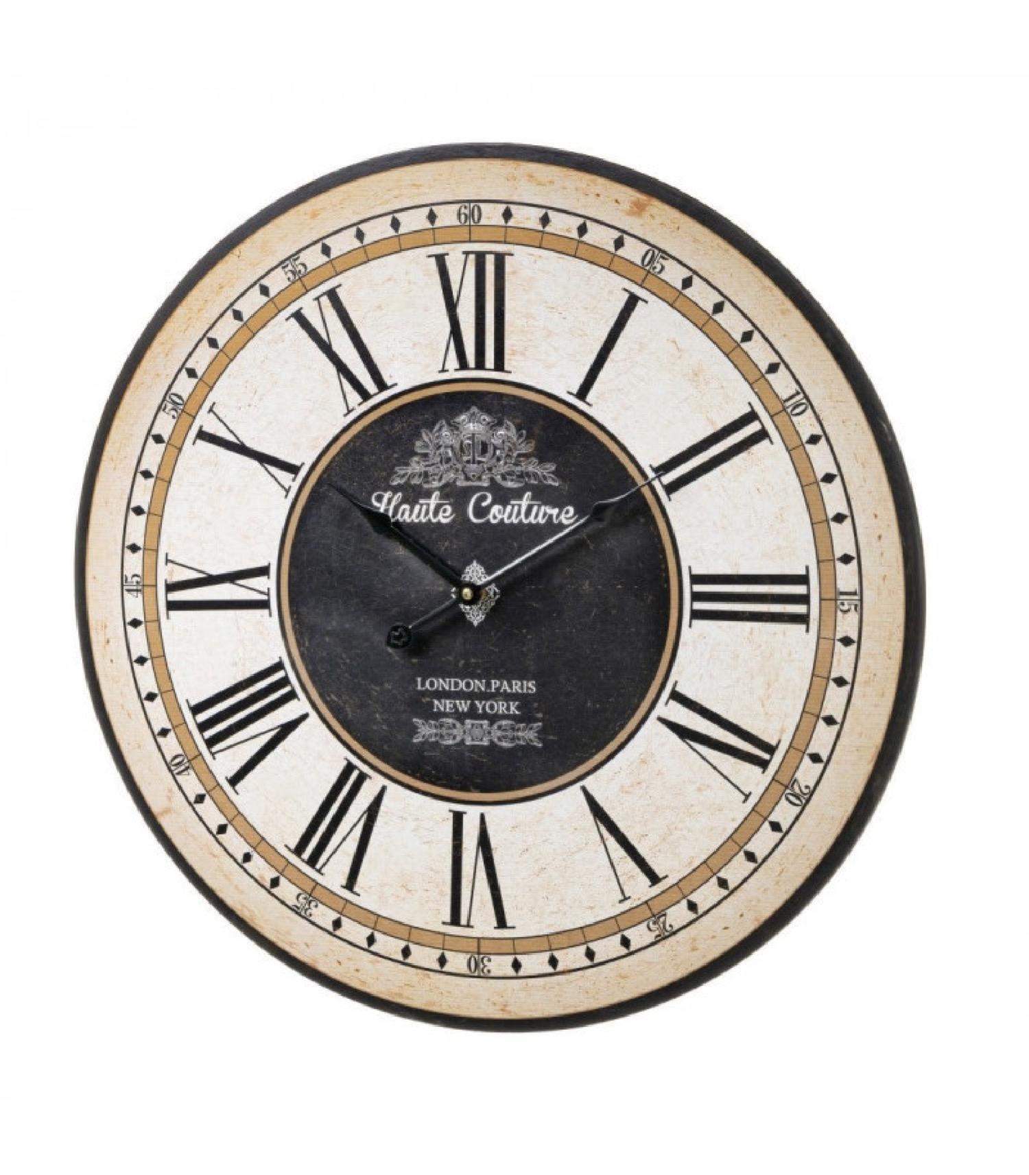 Horloge murale ronde en bois MDF D60