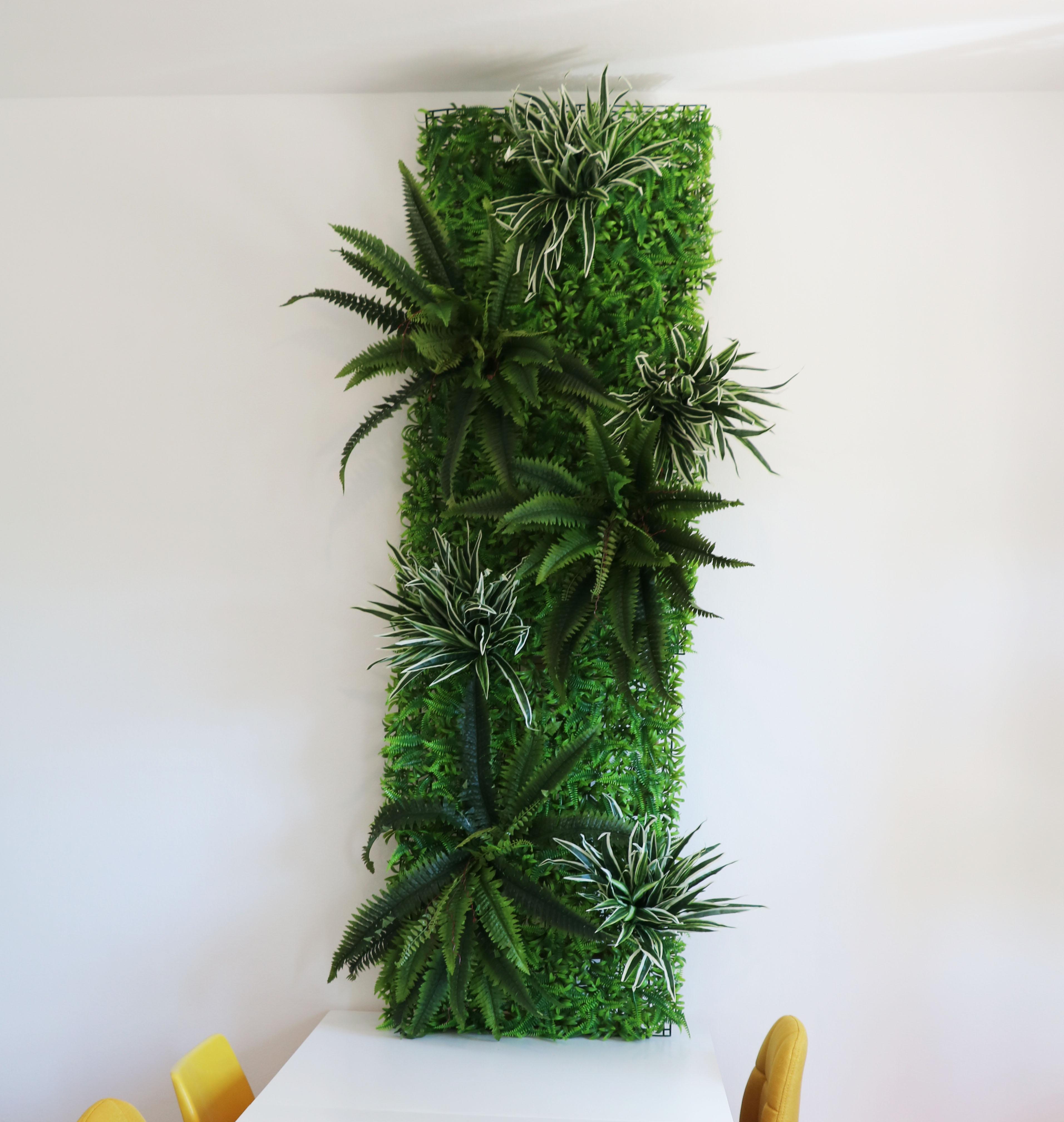 Mur végétal artificiel 200cm - Kit 12 pièces