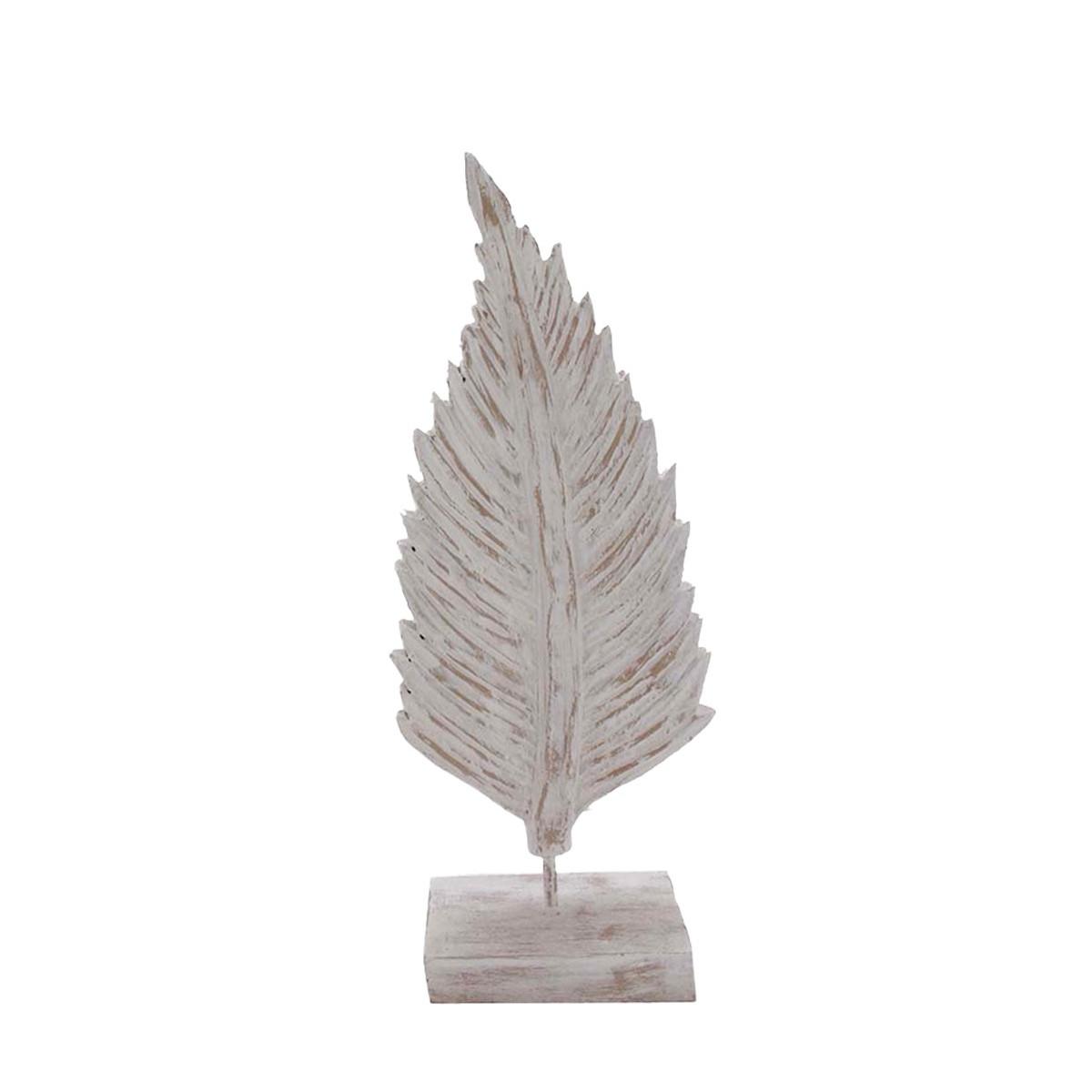 Feuille décorative  Blanc 21x9x50  cm