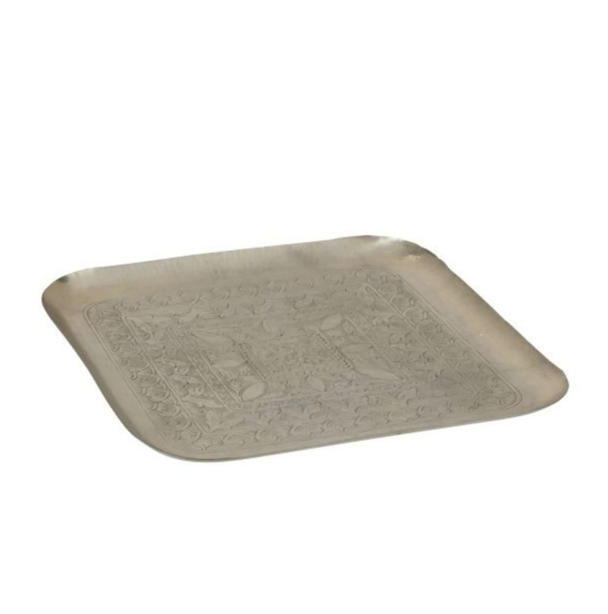 Plateau carré aluminum gris 60x60cm