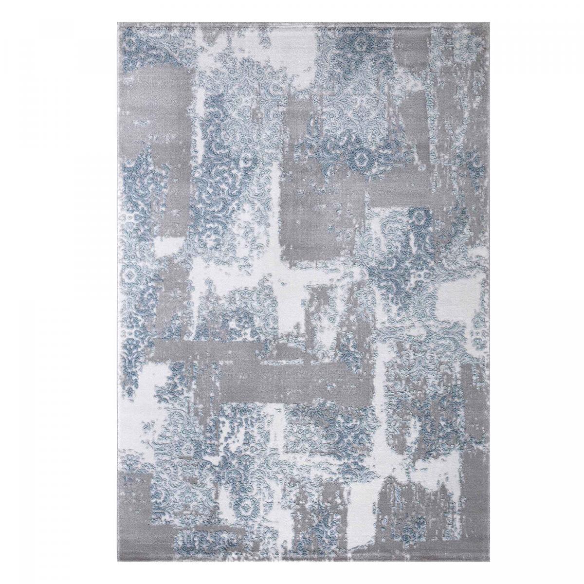 Tapis design en acrylique bleu 120x180